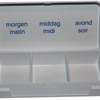 Medicatiedoos pillbox 3 vakken dag