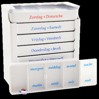 Medicatiedoos pillbox wit classic 7 dagen
