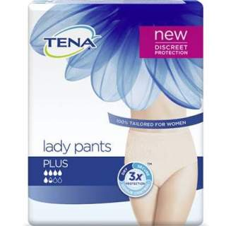 Tena silhouette plus creme of lady pants plus